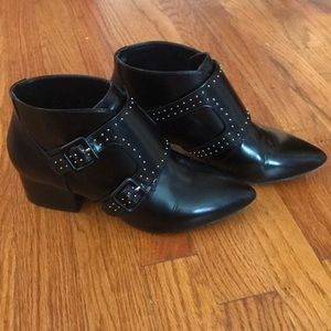 Leather French Connection studded Booties size 8